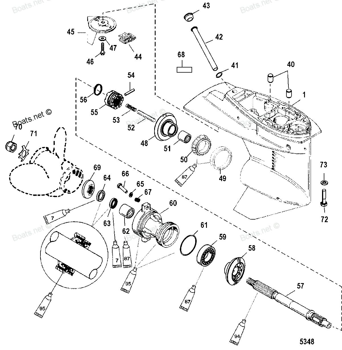 гребной винт для лодочного мотора меркурий 40ео