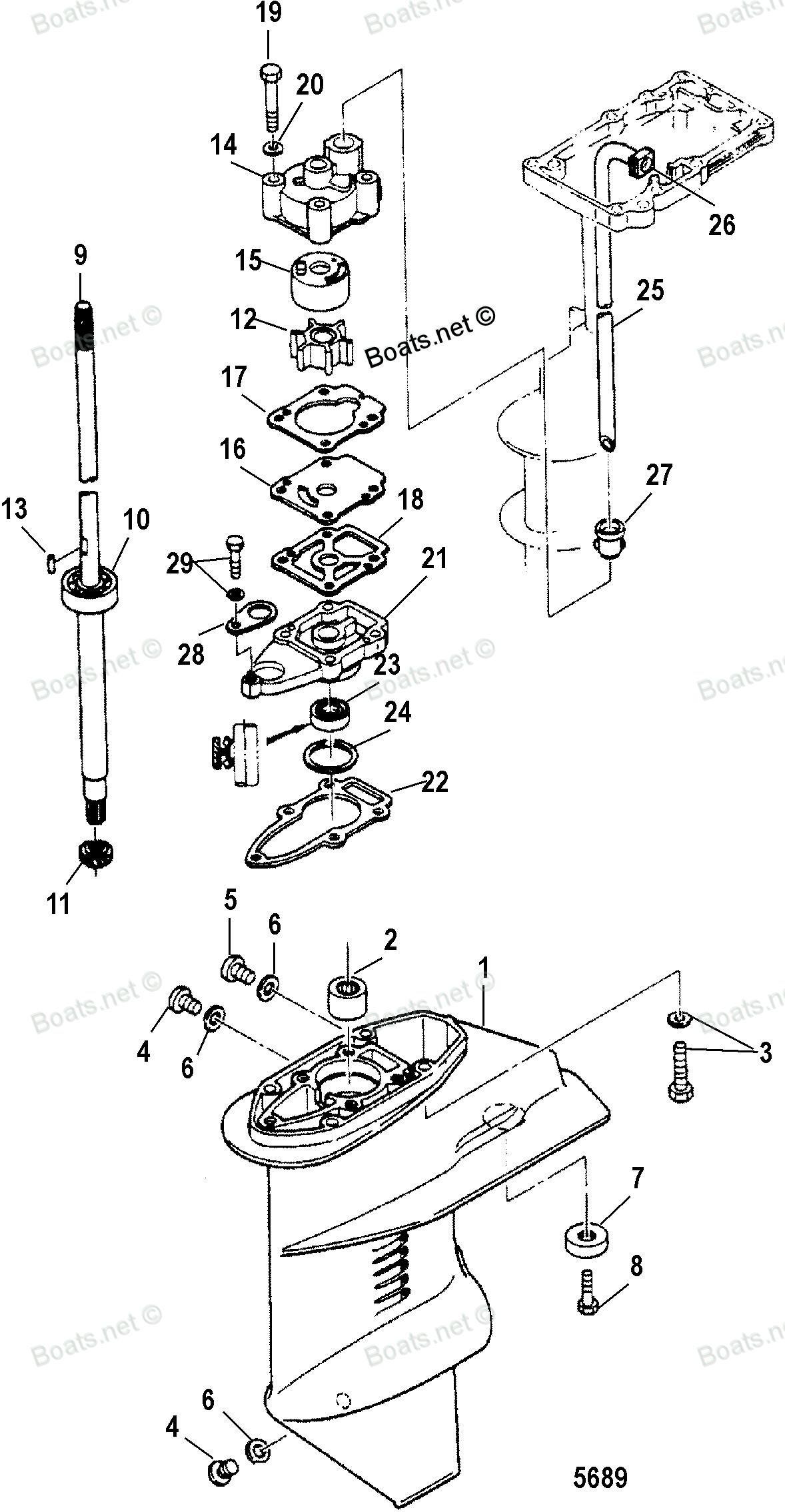 взаимозаменяемость деталей от лодочного мотора