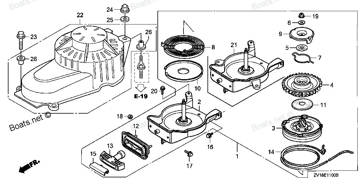 ручной стартер для лодочного мотора хонда 20