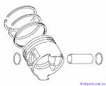 Поршень,Комплект,STD,Suzuki,DF 4-6л.с.,12140-91J10,12151-90900,09381-18002,12111-91J01-0B0