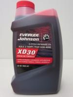 Масло Моторное, Johnson/Evinrude/OMC, XD30, для двухтактных подвесных двигателей(0.95л.) - 764348