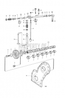 camshaft and valve mechanism D41B, AD41B