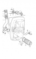 exhaust pipe and cooling water pipe