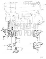 Flexible Engine Suspension for Reverse Gear Mpm IRM350A and Twin Disc MG5114A: Twin Disc MG5114A TAMD163P-A