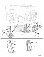 Fixed Engine Suspension for Twin Disc MG516 and Auxiliary Engine: AUX TAMD162C-C, TAMD163A-A
