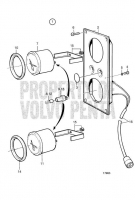 Extra Panel 24V, Turbo Pressure, Oil Pressure Reverse Gear D25A-MT, D25A-MS, D30A-MT, D30A-MS