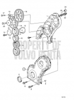 Timing Gear Casing and Gears: C KAD44P, KAD44P-B, KAD44P-C, KAMD44P-A, KAMD44P-C