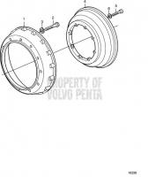 Adapter Flywheel and Flywheelhousing SAE 0 TAMD162C-C, TAMD163A-A