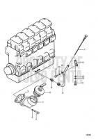 Oil filling and oil level gauge D25A-MT AUX, D25A-MS AUX, D30A-MT AUX, D30A-MS AUX