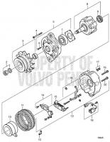 Alternator, Components D25A-MT, D25A-MS, D30A-MT, D30A-MS