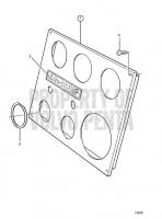 Instr. Panel for Twin Engine Install. Mirror-Invert TAMD71B, TAMD73P-A, TAMD73WJ-A