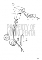 Handle for Control with Power Trim: Side Installation KAD42P-A, KAMD42P-A