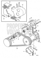 Water Pump and Belt Tensioner Device D65A-MT