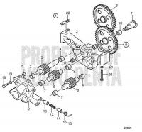 Oil Pump, Components: A D25A-MT AUX, D25A-MS AUX, D30A-MT AUX, D30A-MS AUX