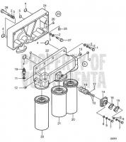 Oil Filter Housing and Oil Filter D30A-MT AUX, D30A-MS AUX