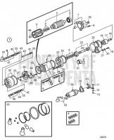 Стартер, Components D25A-MT, D25A-MS, D30A-MT, D30A-MS