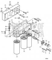 Oil Filter Housing and Oil Filter D25A-MT AUX, D25A-MS AUX
