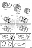 Tachometers and Speedometers, EVC 5.7Gi-G, 5.7Gi-GF, 5.7GXi-H, 5.7GXi-HF, 5.7OSi-G, 5.7OSi-GF, 5.7OSXi-G, 5.7OSXi-GF