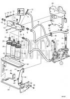 Oil Filter and Oil Lines D11A-A, D11A-B, D11A-C, D11A-D MP, D11A-E
