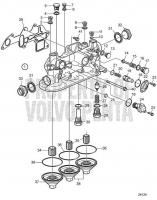 Oil filter housing D11A-A, D11A-B, D11A-C, D11A-D MP, D11A-D (IPS), D11A-E, D11A-C MP