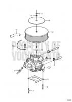 Carburetor Mounting 3.0GSPBYCCE, 3.0GSPEFS