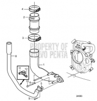 Exhaust Pipe and Cooling Water Pipe DPH/DPR Drive Unit D6-280A-A, D6-280A-B, D6-280A-C, D6-280A-D, D6-280A-E, D6-310A-A, D6-310A-B, D6-310A-C, D6-310A-D, D6-330A-B, D6-330A-C, D6-330A-D, D6-350A-A, D6-350A-B, D6-370A-B, D6-370A-C, D6-370A-D, D6-310A-E, D6-330A-E, D6-370A-E, DPH-A, TSK DPH-B, DPR-A, DPR-B