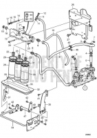Oil Filter and Oil Lines D11A-A, D11A-B, D11A-C, D11A-D MP, D11A-D (IPS), D11A-E, D11A-C MP, D11A-C (IPS)