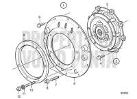 Connecting Kit for Borg Warner SAE4 and SAE7 D6-280I-B, D6-280I-C, D6-280I-D, D6-280I-E, D6-310I-B, D6-310I-C, D6-310I-D, D6-330I-B, D6-330I-C, D6-330I-D, D6-370I-B, D6-370I-C, D6-370I-D, D6-310I-E, D6-330I-E, D6-370I-E, D6-435I-A, D6-435I-C, D6-435I-D, D6-435I-E