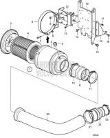 Air filter D13B-E MH, D13B-N MH