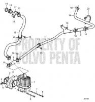 Crankcase Ventilation, Earlier Production. SN-X013349122 D13B-E MH