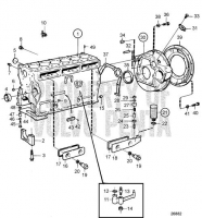Cylinder Block and Flywheel Cover TMD41B, TAMD41B