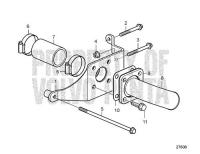 Rear Bracket for External Keel Cooling D6-300I-F, D6-330I-F, D6-370I-F, D6-435I-F, D6-435I-F