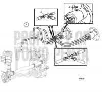 Steering System. Second Helm Station Connection D6-280A-A, D6-280A-B, D6-280A-C, D6-280A-D, D6-280A-E, D6-310A-A, D6-310A-B, D6-310A-C, D6-310A-D, D6-330A-B, D6-330A-C, D6-330A-D, D6-350A-A, D6-350A-B, D6-370A-B, D6-370A-C, D6-370A-D, D6-310A-E, D6-330A-E, D6-370A-E, D6-400A-E