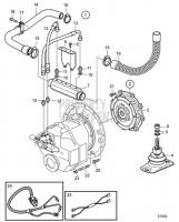 Connecting Kit Reverse Gear HS80AE, HS85AE D6-435I-A, D6-435I-C, D6-435I-D, D6-435I-E