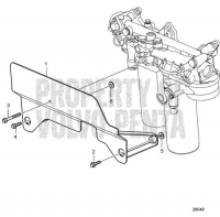 Oil Filter Protection Bracket D16C-D MH