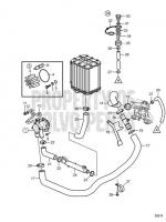 Seawater System: Gimbal to Heat Exchanger V8-300-CE-G, V8-350-CE-G, V8-300-CE-H, V8-350-CE-H