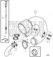 Wet Exhaust Riser Elbow D13B-E MH, D13B-N MH
