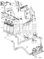 Oil Filter and Oil Lines IPS D11A-D (IPS), D11A-C MP