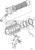 Charge Air Cooler SNA501446- D6-400A-F, D6-435D-F, D6-435I-F