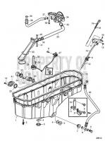 Lubrication System oilsump deep front D16C-D MH