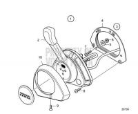 Sailboat Electronic Control lever EVC-E3 D3-110I-H, D3-150I-H, D3-170I-H, D3-200I-H, D3-220I-H
