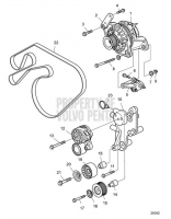 Alternator with Installation Parts IPS D8A2-A MP