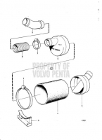 Water Cooled Exhaust Muffler with Installation Components