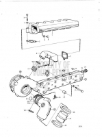Induction- and Exhaust Manifold with Installation Components TMD40B, TMD40C