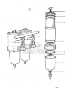 Fuel Cleaner / Water Separator, Twin. Classifiable Fuel System. Earlier Production TAMD71A, TAMD72A